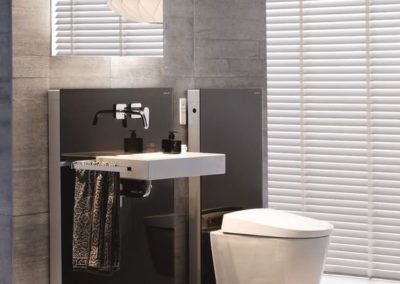 Závěsný bidet Geberit AquaClean Sela ve stylové moderní koupelně