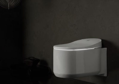 Grohe Sensia Arena má funkci decentního podsvícení